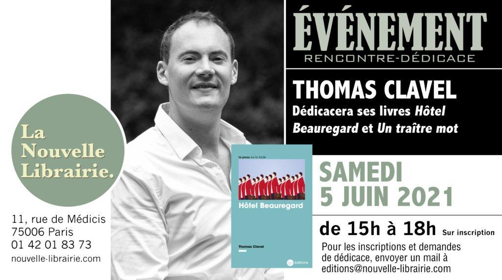 Thomas Clavel signature à la Nouvelle Librairie